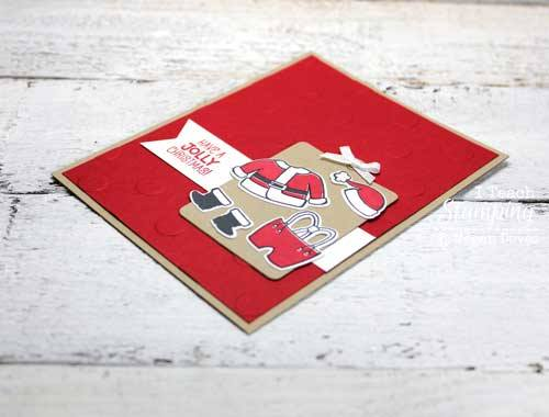 How to make santa claus greeting cards i teach stamping a cute example of how to make santa claus greeting cards m4hsunfo
