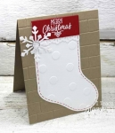 Easy Cozy Merry Christmas Card!
