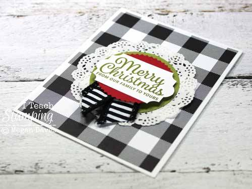 Check out some comfy cozy plaid christmas cards