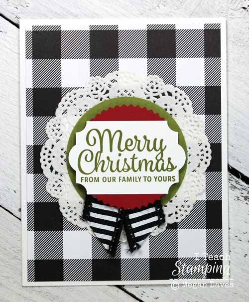 Comfy cozy plaid christmas cards