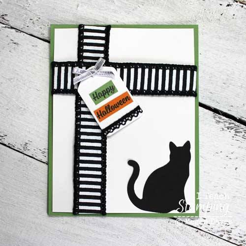 Cute cat card for Halloween