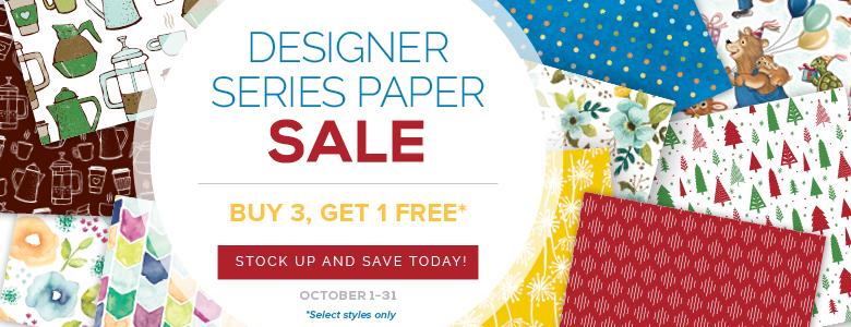 Designer Series Paper Sale!