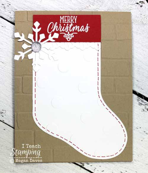 How cute is this Christmas stocking Merry Christmas Card