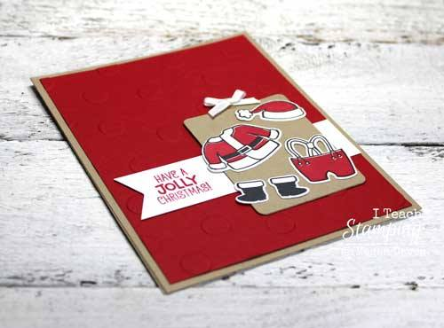 How to make santa claus greeting cards i teach stamping how to make santa claus greeting cards stampin up style m4hsunfo