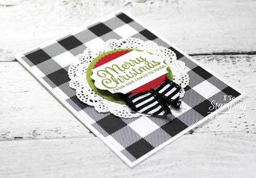 I love plaid christmas cards to warm up the season!