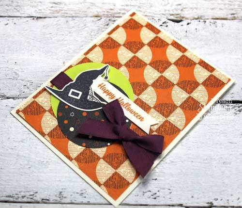 Use patterned paper to make quick and cute halloween cards