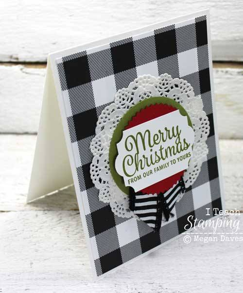 plaid christmas cards for a cozy holiday