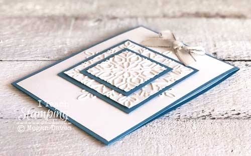 A BEAUTIFUL triple time card using dry embossing