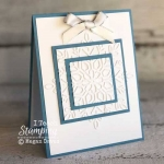 A Triple Time Card with Dry Embossing