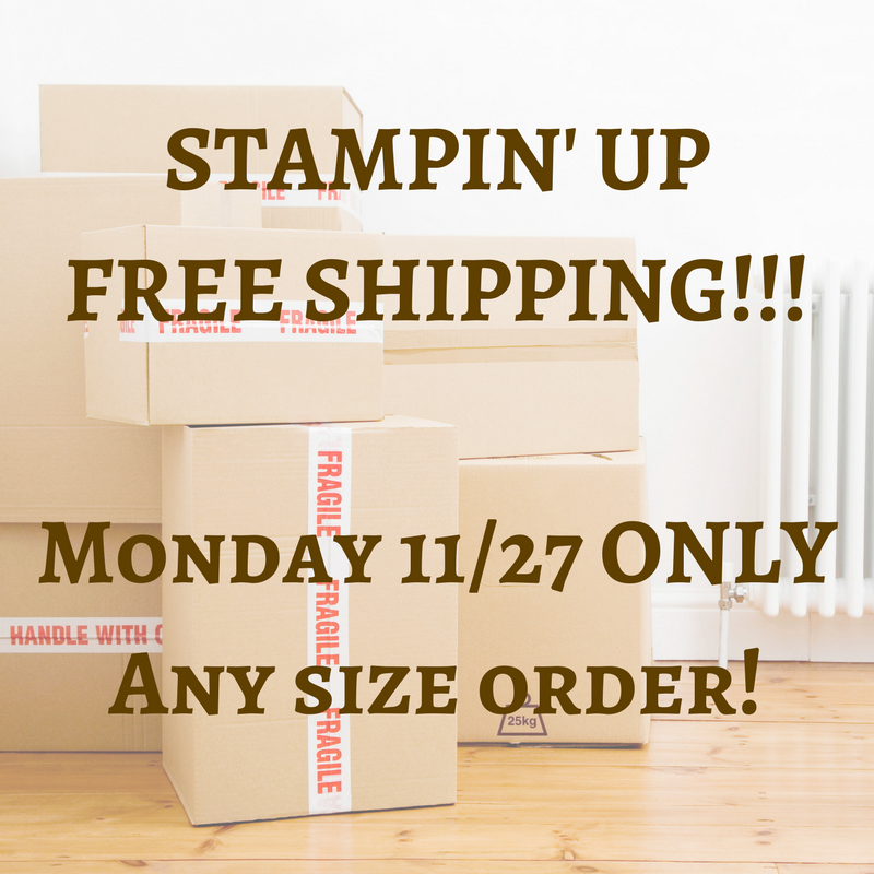 Stamping Up Free Shipping