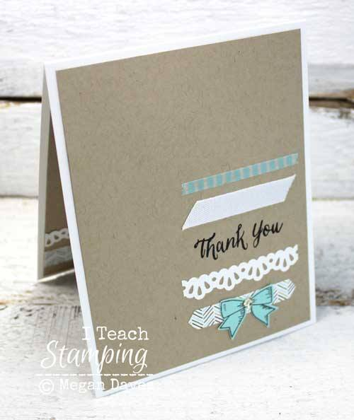 how to use your paper scraps on a card