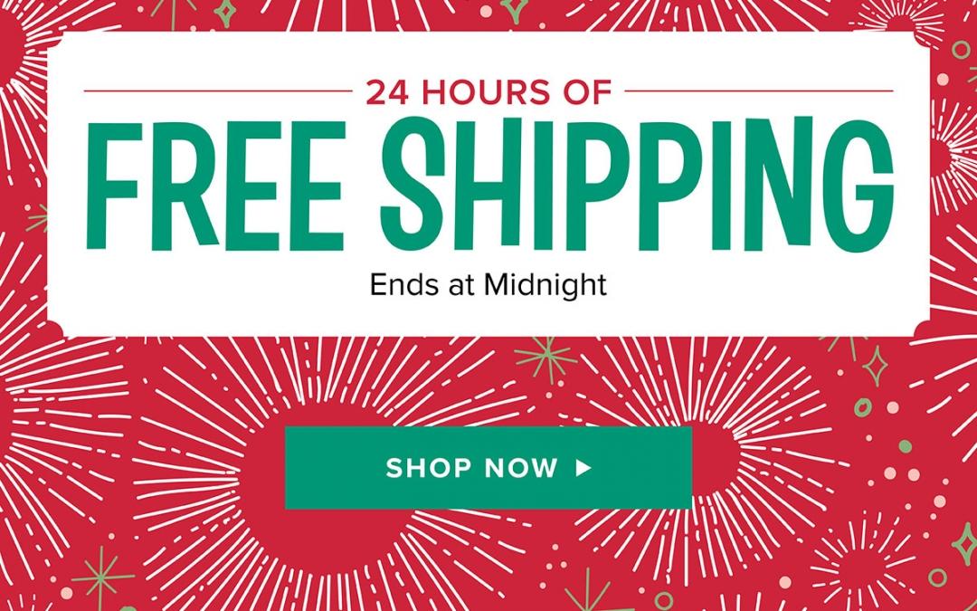 Stampin' Up! FREE SHIPPING Monday December 11