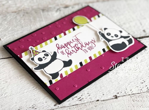Coloring stampin up party pandas