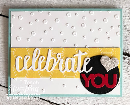 Stampin Up Celebrate You Thinlits | Amazing texture