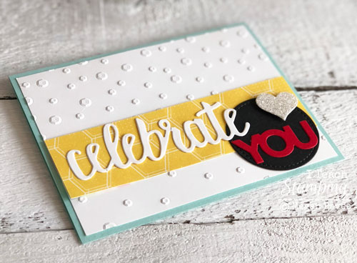 Stampin Up Celebrate You Thinlits | Assembling your card