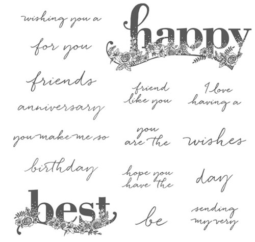 Stampin Up Best Wishes Stamp Set