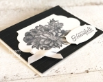 stampin up heartfelt blooms | simple stripes embossing folder