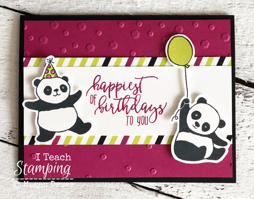 stampin up party pandas | birthday card idea