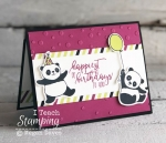 stampin up party pandas card idea