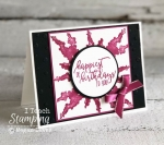 Faux Watercolor Splash Background | Check out this entire card
