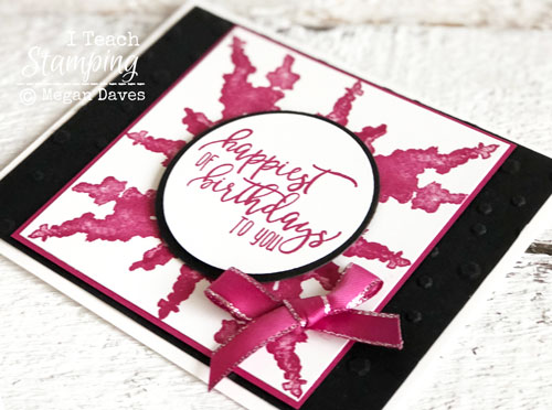 Faux Watercolor Splash Background | Coordinating pink ribbon