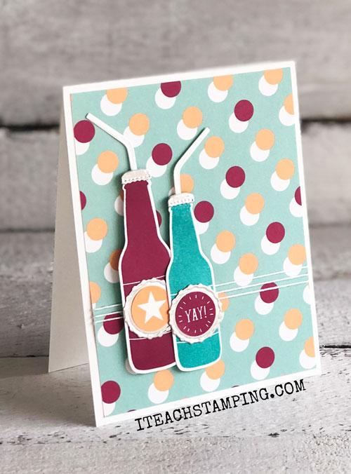Soda Pop Bottle Card Idea