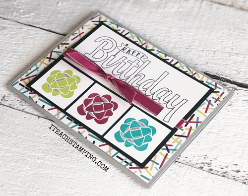 Stampin Up Picture Perfect Birthday | Look how the ribbon is tied