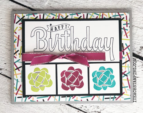 Stampin Up Picture Perfect Birthday | Stamping with Different Colors