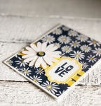 daisy flower paper punch | layering strips of card stock