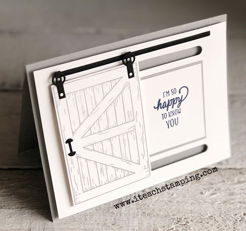 Stampin Up Barn Door Bundle | finished card