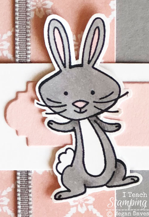 handmade easter card | Close up bunny