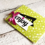 make your own treat bags | Using negative and positive pieces of the die cut