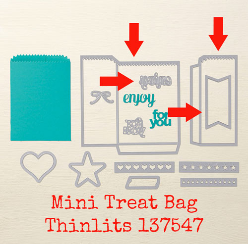 make your own treat bags | mini treat bag thinlits
