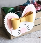paper Easter basket craft | close up of bunny