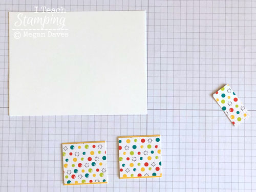 patterned paper for card making | Step 2