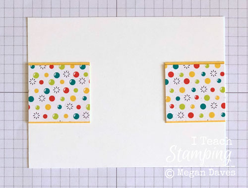 patterned paper for card making | Step 3