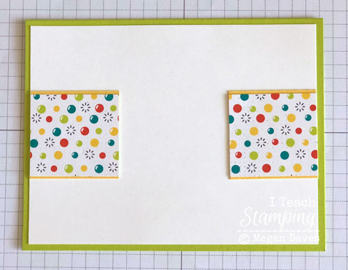patterned paper for card making | Step 4