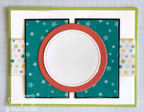 patterned paper for card making | Step 7