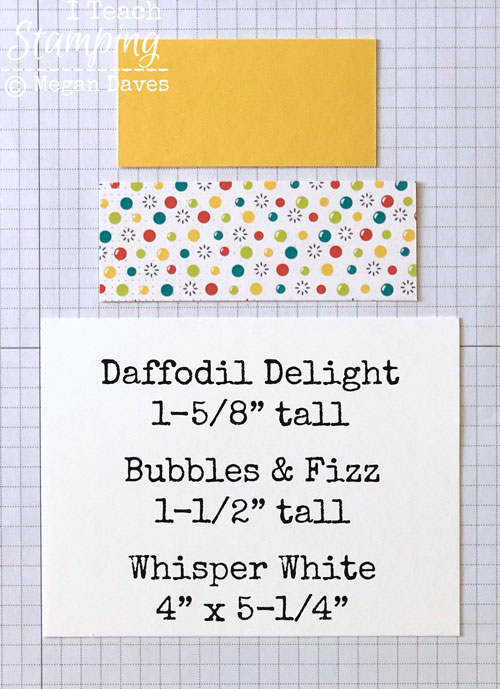 patterned paper for card making | step 1
