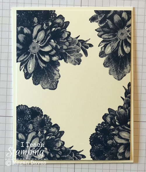 quick tutorial using Stampin Ups Heartfelt Blooms | On the vanilla base