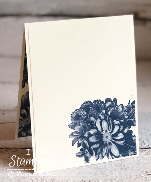 quick tutorial using Stampin Ups Heartfelt Blooms | The inside of the card