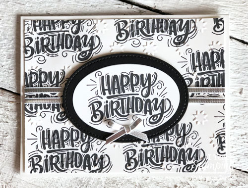 Making Monochromatic Birthday Cards | Budget Stamping