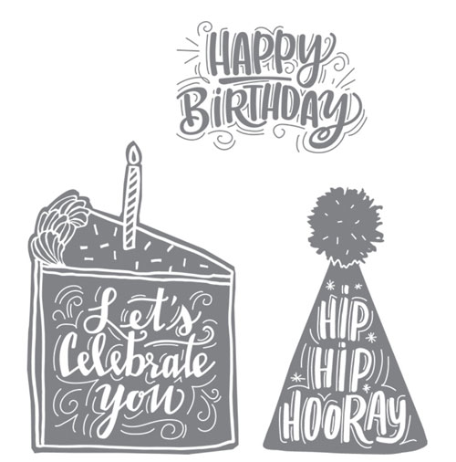 Making Monochromatic Birthday Cards | Celebrate You stamp set
