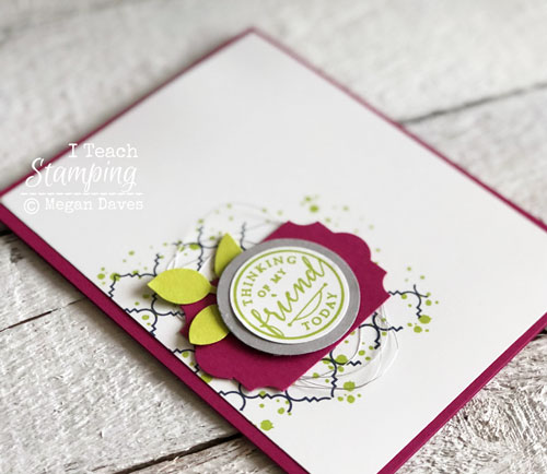 Stampin Up's Hello Again | The Layout