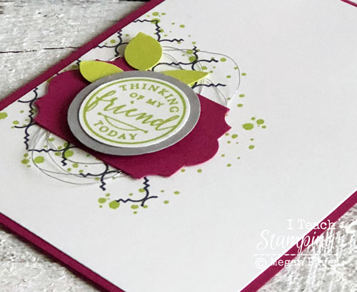 Stampin Up's Hello Again | The sentiment Layer