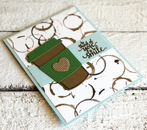 Stampin Up Coffee Break Paper | Choose whichever sentiment you want