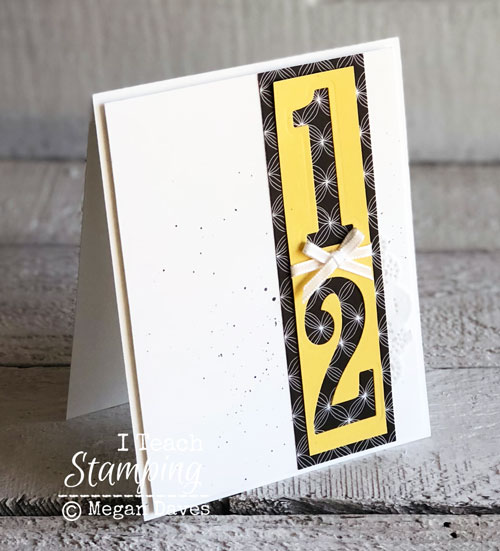 Stampin Up Large Numbers Framelits Dies | Adding splatter with ink