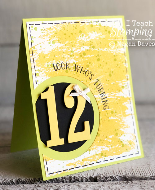 Stampin Up Number of Years | Card for Lea