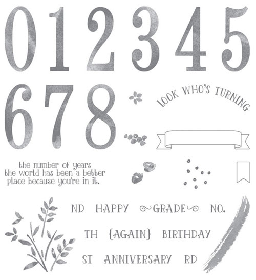 Stampin Up Number of Years stamp set