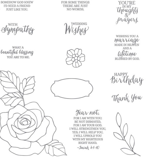 Stampin Up Rose Wonder | Stamp Set